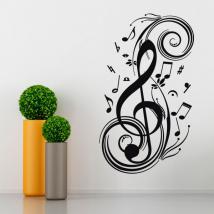 Note di musica di vinile