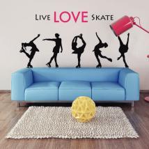 Skate di vivere l'amore di vinile