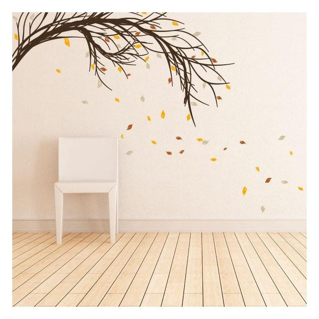 Ramo di albero di vinile con foglie