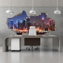 Città 3D vinile parete