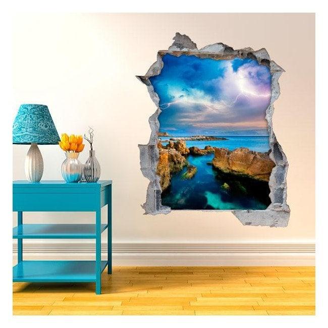 Vinile pareti 3D Sea Ray