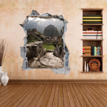 Vinili parete 3D Machu Picchu