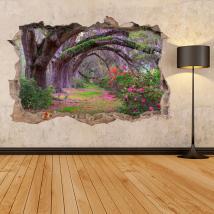 Natura di alberi 3D in vinile