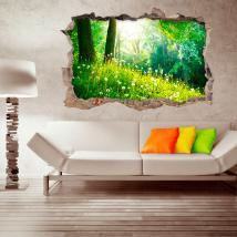 Natura di parete-rotta di vinile 3D