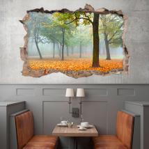 In autunno gli alberi 3D in vinile Italian 4493