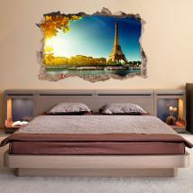 Vinile parete 3D Torre Eiffel Parigi
