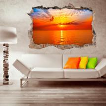 Vinyl tramonto parete 3D Italian 4508