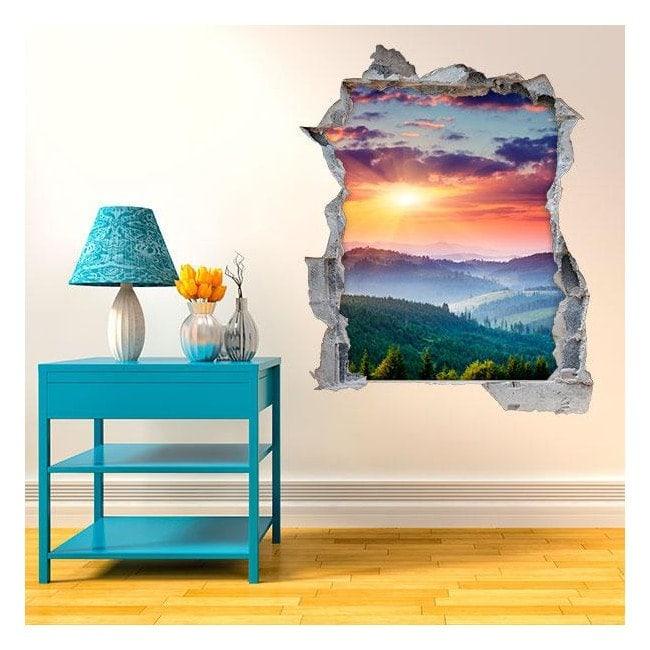 Vinyl tramonto 3D in montagna Italian 4515