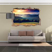 Vinyl tramonto 3D in montagna Italian 4524