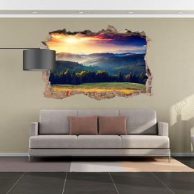 Vinyl tramonto 3D in montagna