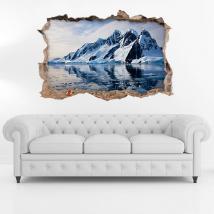 Vinile 3D iceberg e montagne