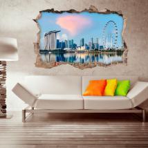 Città di Singapore 3D vinile