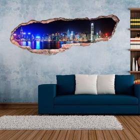 Città 3D vinile di Hong Kong