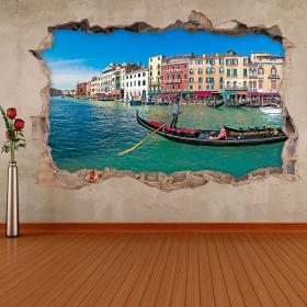 Vinile 3D Venezia Gondola