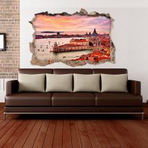 Vinile 3D parete-rotta Venezia