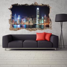 In vinile 3D Hong Kong City