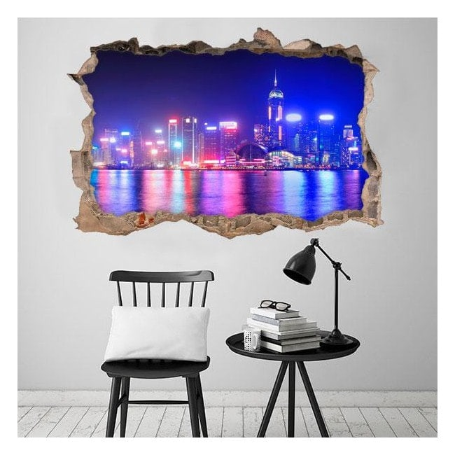 In vinile 3D city Hong Kong