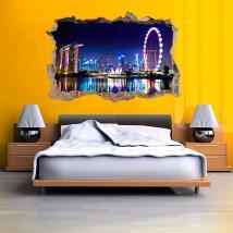 In vinile 3D city Singapore
