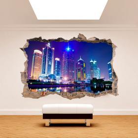 3D parete in vinile Shanghai Cina
