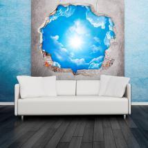 Vinile sky 3D nuvole e sole