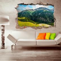 Vinili di pareti di montagna 3D