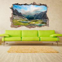 Vinile 3D lago in montagna Italian 4577