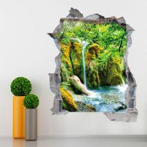Fiumi 3D vinile in montagna