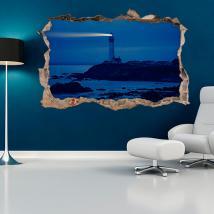 Vinili parete 3D spiaggia del Faro