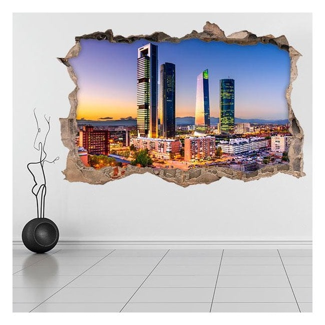 In vinile 3D cuore finanziario di Madrid