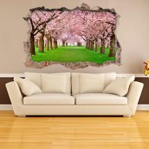 Fiore di ciliegio gli alberi 3D in vinile