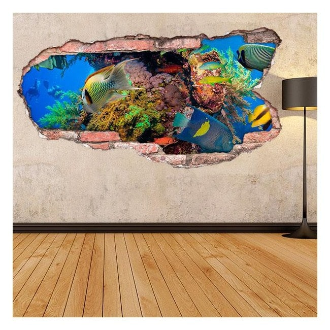 Pesce 3D vinile nel mare