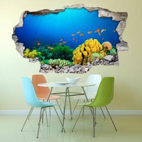 Vita marina di vinile parete 3D