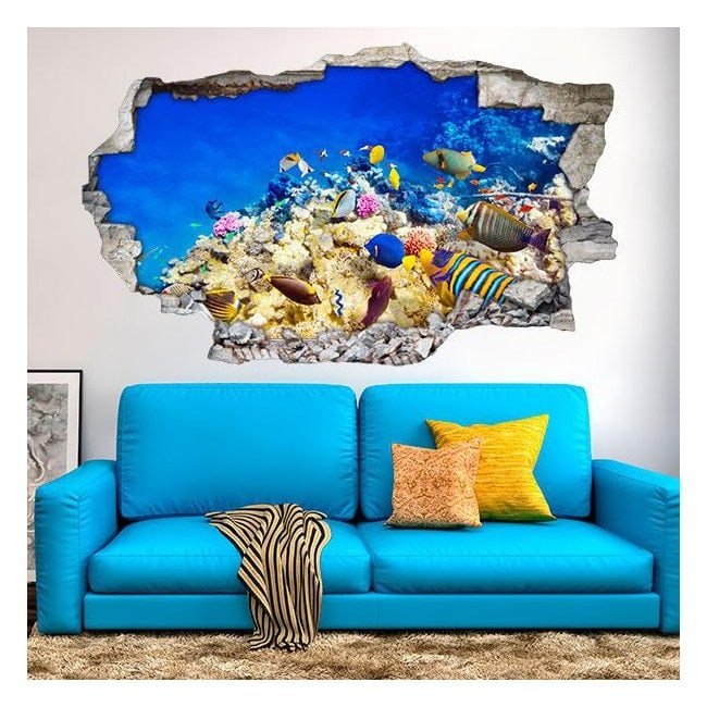 Vinile 3D colori pesci nel mare