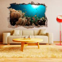 3D pesce dei vinili di pareti del mare