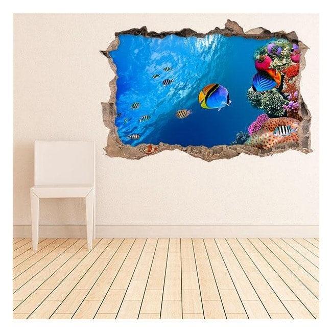 Vinile pareti vita marina 3D
