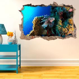 Vita di vinile sul Coral Reef 3D