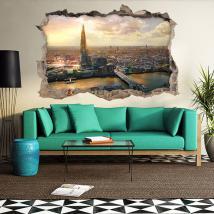 Vinile 3D city di Londra Italian 4658