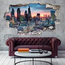 Vinile 3D city di Londra Italian 4661