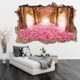 Strada di fiori 3D vinile