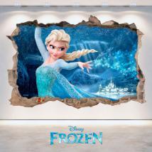 Parete del foro vinile 3D Disney congelato Italian 4693
