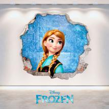 Foro di Disney Anna Frozen vinile parete 3D