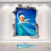 Parete del foro vinile 3D Disney congelato Italian 4704