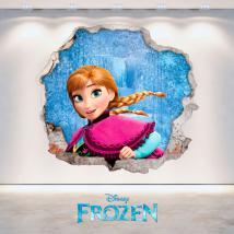 Foro di Disney Frozen Anna vinile parete 3D