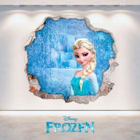 Parete 3D del foro di Elsa congelati di Disney in vinile