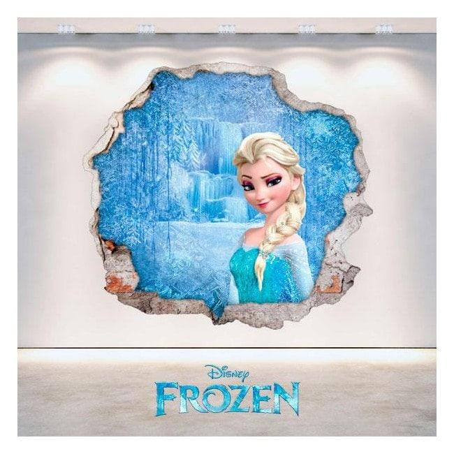Foro di Disney Frozen Elsa vinile parete 3D