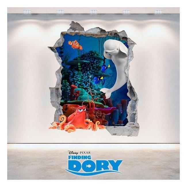 Parete del foro vinile Dory Disney 3D