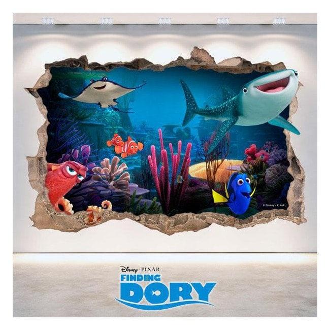 Dory di Disney vinile cercando foro parete 3D