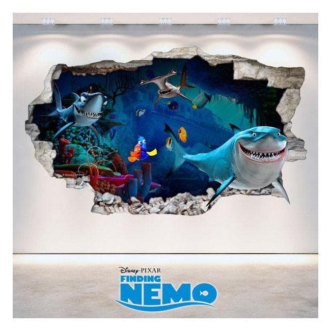 Vinile Disney alla ricerca di Nemo 3D buco muro