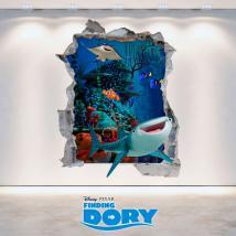 Vinile 3D Disney alla ricerca di parete del foro di Dory