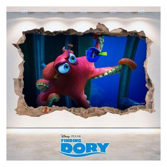 Vinile 3D Disney Dory alla ricerca di foro parete